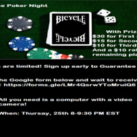 Poker Game Night With Prizes