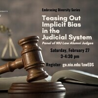 NIU Law Panel: Teasing Out Implicit Bias in the Judicial System