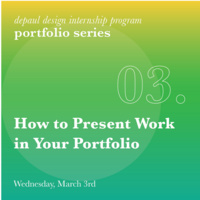 Portfolio Workshop - 03: How to present work in your portfolio