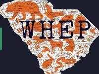 WHEP and animals over South Carolina silhouette