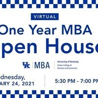 University of Kentucky's One Year MBA Virtual Open House