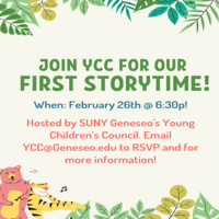 First YCC Virtual StoryTime of the Spring 2021 Semester