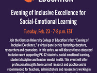 """College of Education """"Evening of Inclusive Excellence"""" for Social-Emotional Learning"""