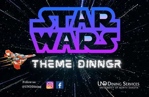 UND Dining Star Wars Theme Meal