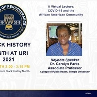 COVID-19 and the African American Community -Dr. Carolyn Parks