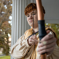Cooper Elkins as Apollo in Alcestis at Southern Oregon University