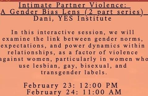 Intimate Partner Violence: A Gender Bias Lens (2 Part Series)