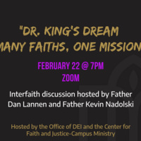 Dr. King's Dream: Many Faiths, One Mission