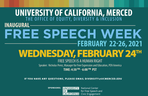 The Office of Equity, Diversity & Inclusion Present: Inaugural Free Speech Week-February 21-26, 2021: Wednesday Event-Free Speech Is A Human Right
