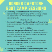 Capstone Boot Camp: Conducting Focused Research