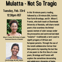 Black History Month Poetry Reading