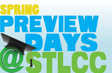 logo promoting spring preview days at STLCC