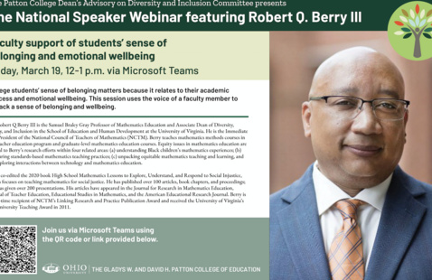Flier for Dr. Robert Berry's March 19, 2021 lecture
