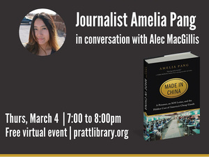 Writers LIVE! Amelia Pang, in conversation with Alec MacGillis