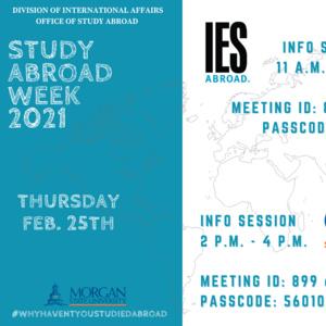 Study Abroad Week Thursday Events