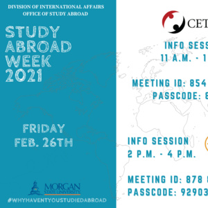 Study Abroad Week Friday Events
