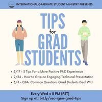 International Grad Students - Tips for Grad Students