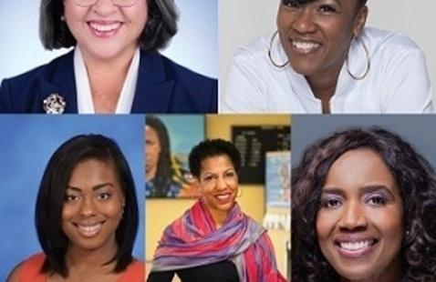 County Mayor Daniella Levine Cava; Dr. Yanela McLeod,  Kalyn Lee, Teri Williams, and Nancy Ancrum