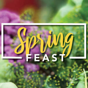 spring feast, plant-based, themed dinner, frank dining hall