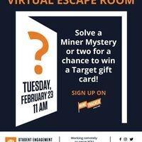 Miner Mystery Virtual Escape Room