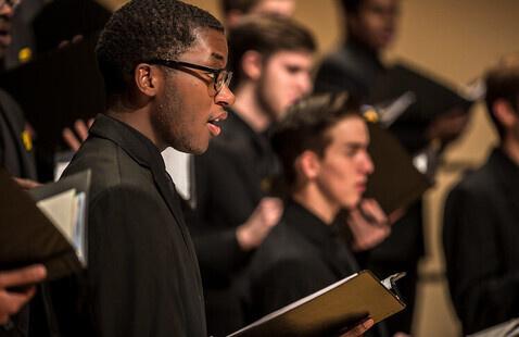 Women's Choir, Men's Ensemble, and University Chorale
