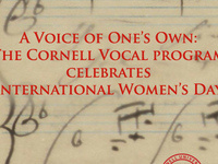 Cornell Voice Program Celebrates International Women's Day, CU Music