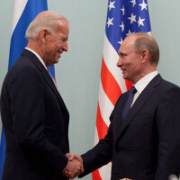 Putin with U.S. Vice President Joe Biden in Moscow, Russia on 10 March 2011