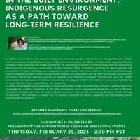 INTERWOVEN NARRATIVES IN THE BUILT ENVIRONMENT: INDIGENOUS RESURGENCE AS A PATH TOWARD LONG-TERM RESILIENCE