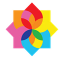 Intercultural Network Logo. Made up of multiple colors: red, orange, pink, blue, yellow and green.