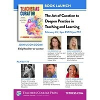 Teacher as Curator - Book Launch and Discussion