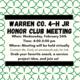 4-H Honor Club Feb 24, 2021