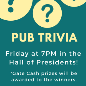 Pub Trivia: Hall of Presidents Edition