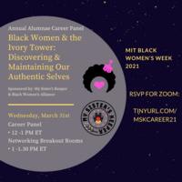MIT Black Women's Week Annual Alumnae Career Panel