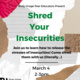 Shred Your Insecurities