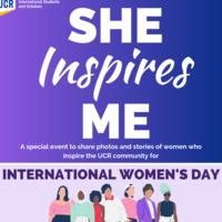 """International Women's Day - """"She Inspires Me"""""""