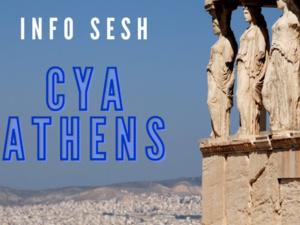 Statues gaze out across Athens.