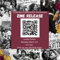 """HEP Zine Release """"Grab & Go"""" Event-Landis Green"""