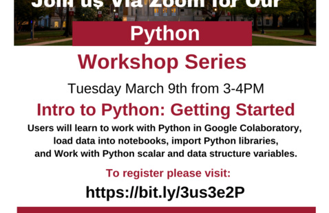UA Libraries  Introduction to Python Workshop Series 1: Getting Started
