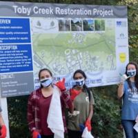 Hike and Seek (Trash) - Service Project on the Toby Creek/Mallard Creek Greenway