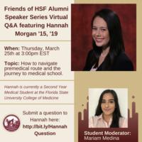 Friends of HSF Alumni Speaker Series Virtual Q&A featuring Hannah Morgan