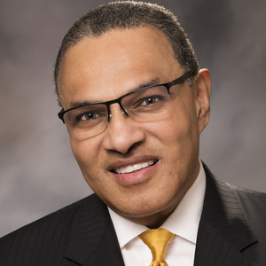 Photography of Freeman Hrabowski, Ph.D., president of UMBC and keynote speaker for the Alabama ADVANCE Spring Symposium
