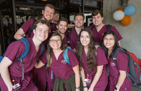 A photo of dentistry students.