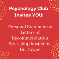 Personal Statement and Letters of Recommendation Workshop