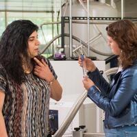 Biochemistry Professor Elisar Barbar in her lab