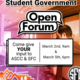 Joint Student Government Open Forum