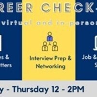 CAREER CHECK-INS (Virtual and In-Person)