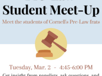Pre-Law Student Meet-up: Student Mentoring Groups and Experiences