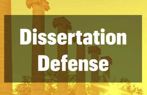 Dissertation Defense - Sandra Marin