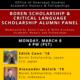 Boren Scholarship /Critical Language Scholarship Alumni Panel