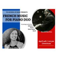 Faculty Recital Series: Harold Martina and Cecilia Kao, piano